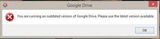 gdrive-version-error